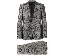 Jacquard-Anzug mit Blumen