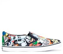 Slip-On-Sneakers mit Cartoon-Print