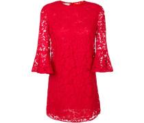 flared sleeve lace dress