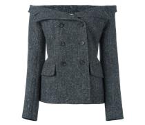 Schulterfreie Tweed-Jacke - women