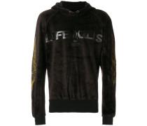 velvety effect hoodie