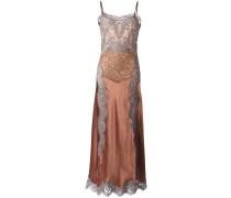 Camisole-Kleid mit Spitzen-Overlay