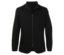 tailored zip-up blazer