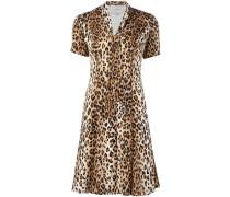 T-Shirt-Kleid aus Seide mit Leopardenmuster