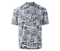 Hemd mit Print - men - Baumwolle/Viskose - 39