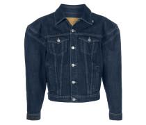 Jeansjacke mit breiten Schultern