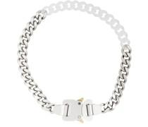 Zweifarbige Halskette mit Schnalle