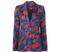 Jacke mit handgemalten Blumen