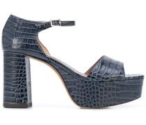 'Pattonna' Sandalen mit Kroko-Effekt, 85mm