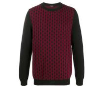 Intarsien-Pullover mit Monogramm