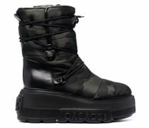camouflage platform-sole boots