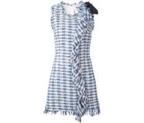 Kariertes Kleid mit Fransensaum