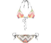 Triangel-Bikini mit Zickzackmuster