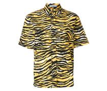 Button-down-Hemd mit Animal-Print