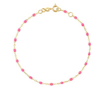 18kt yellow  Classic Gigi pink beaded bracelet