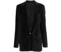 pointed collar blazer