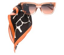 Sonnenbrille mit Tuch