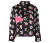 Cosmo Girl print fitted jacket