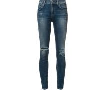 Hoch geschnittene Skinny-Jeans