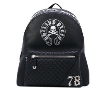 skull patch backpack - men - Kalbsleder
