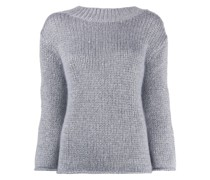 Pullover im Metallic-Look