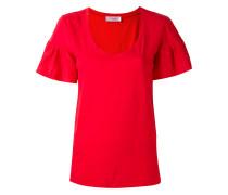 T-Shirt mit Rüschen - women - Baumwolle - L