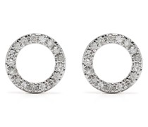 18kt Circle Rotgoldohrringe mit Diamanten
