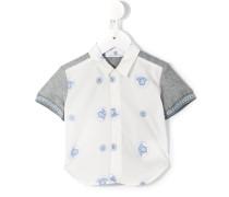 Hemd mit grauen Ärmeln - kids - Baumwolle - 18