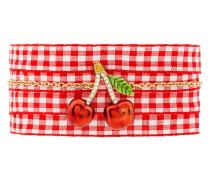 cherry pendant gingham bracelet