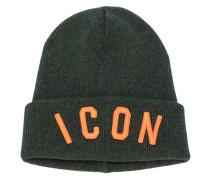 ICON embroidered beanie hat - men - Schurwolle