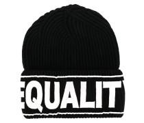 """Strickmütze mit """"Equailty""""-Stickerei"""