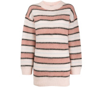 Oversized-Pullover mit Stehkragen