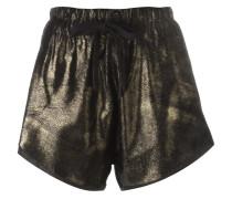 Goldfarbene Shorts mit Metallic-Effekt