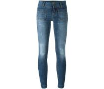 Tief sitzende Skinny-Jeans