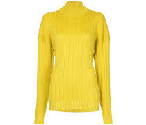 dropped shoulder roll neck sweater