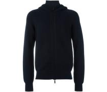 zipped hooded cardigan