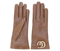 GG logo driving gloves