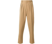 double pince trousers