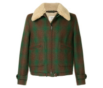 furry collar coat