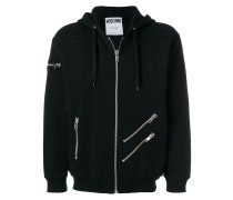 multi-zip hoodie