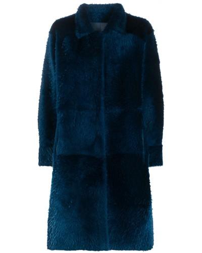 Mantel mit asymmetrischem Saum