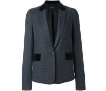 glencheck tweed blazer