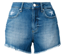 Jeans-Shorts mit Sternstickerei - women