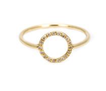 18kt Gelbgold Diamantring