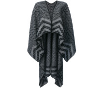 intarsia knit cape