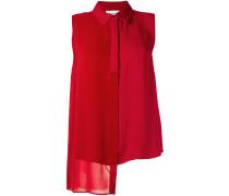 sleeveless asymmetric shirt