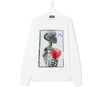 Langarmshirt mit Skelett-Print