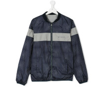 - teen monogram bomber jacket - kids - Polyester