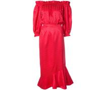 ruffle mini off-shoulder dress