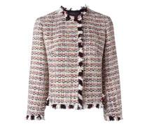 Tweed-Jacke mit Fransenborten